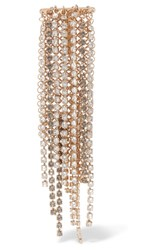 Lanvin Fringed Gold Tone Crystal Brooch One Size