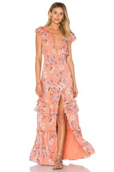 Ale By Alessandra Lina Maxi Dress Orange