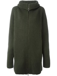 Haider Ackermann Long Zipped Cardigan Green
