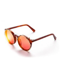 Sunday Somewhere Matahari Round Clip On Sunglasses Brown