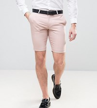 Noose And Monkey Skinny Smart Shorts With Contrast Pink
