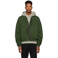 Haider Ackermann Ssense Exclusive Khaki And Black Embroidered Bomber Jacket