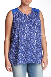 Nydj Bloomfield Tank Plus Size Blue