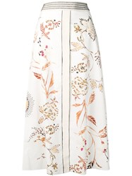 Dorothee Schumacher Embroidered Maxi Skirt White