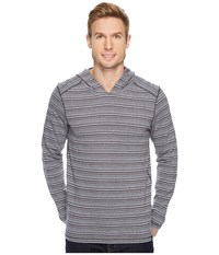 Prana Dweller Long Sleeve Pullover Hoodie Dusk Blue Men's Sweatshirt
