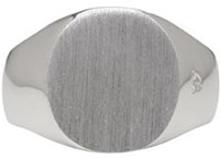 Tom Wood Silver Oval Satin Ring