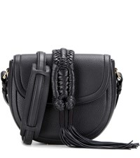 Altuzarra Ghianda Knot Saddle Leather Shoulder Bag Black