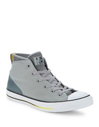 Converse High Top Lace Up Sneakers Grey