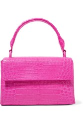 Nancy Gonzalez Crocodile Tote Fuchsia