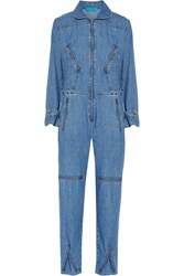 Mih Jeans Chambray Jumpsuit Mid Denim