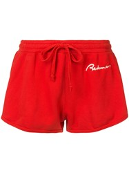 Re Done Logo Runner Shorts Red