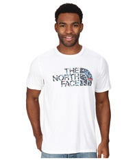 The North Face Short Sleeve Cobalt Flashdry Crew Tnf White Men's Short Sleeve Pullover Multi