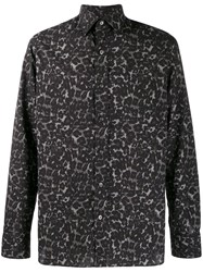 Tom Ford Abstract Leopard Print Shirt Grey