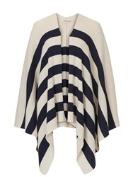 Betty Barclay Knitted Poncho Cream Blue