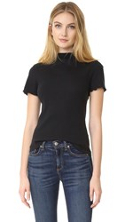 Rag And Bone Thermal Mock Neck Tee Black