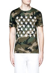 Valentino Butterfly Camouflage Print T Shirt Multi Colour