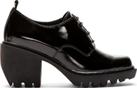 Opening Ceremony Black Leather Grunge Oxford Heels