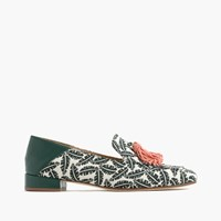 J.Crew Palm Print Tassel Loafers