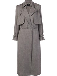 Rachel Comey Notched Lapel Trench Coat Grey
