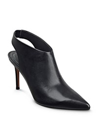 Marc Fisher Ltd. Talia Leather Pointed Toe Booties Black