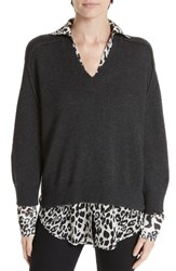 Brochu Walker Layered Wool Cashmere Sweater