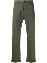 Department 5 Bootcut Cropped Chinos Green