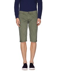 Cycle Trousers Bermuda Shorts Men Military Green