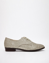 Chocolate Schubar Jazzlyn Glitter Flat Shoes Silverbell