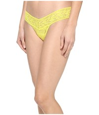Hanky Panky Signature Lace Low Rise Thong Lemongrass Women's Underwear Yellow