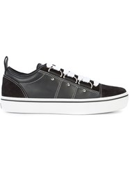 Christian Dior Homme Platform Sneakers Leather Rubber Black