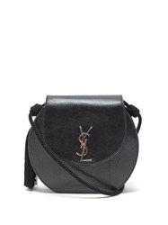 Saint Laurent Demi Lune Watersnake Shoulder Bag Black