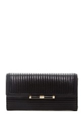 Diane Von Furstenberg 440 Quilted Leather Wallet Black