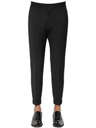 Dsquared 16.5Cm Admiral Fit Wool Cady Pants Black