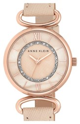 Women's Anne Klein Leather Bangle Watch 32Mm