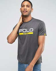 Polo Ralph Lauren Sport Regular Fit Large Logo T Shirt In Grey Charcoal