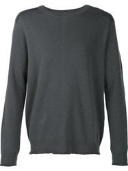Wooyoungmi Exposed Seam Detail Jumper Grey