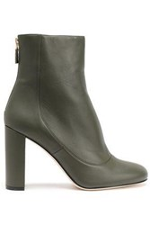 M Missoni Leather Ankle Boots Army Green