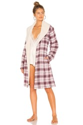 Ugg Anika Flannel Robe Red