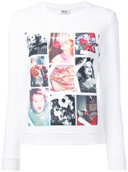 Kenzo Long Sleeve T Shirt Women Cotton M White