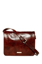 Persaman New York Martino Italian Leather Messenger Brown