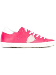 Philippe Model Classic Lace Up Sneakers Pink Purple
