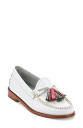 G.H. Bass Women's And Co. Willow Tassel Loafer White Leather
