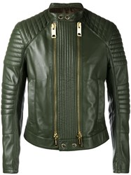 Les Hommes Biker Jacket Men Lamb Skin Acetate 48 Green