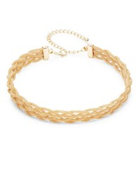 Design Lab Lord And Taylor Goldtone Braided Choker Necklace