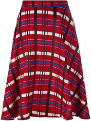 Ultrachic Checked A Line Skirt Red
