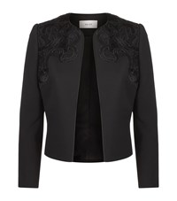 Reiss Arie Lace Evening Jacket Female Black