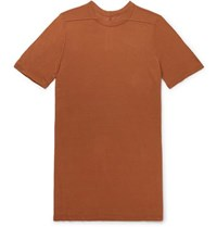 Rick Owens Level Stretch Jersey T Shirt Brown