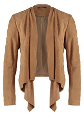 Esprit Collection Leather Jacket Camel