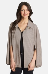 1.State Collared Woven Cape Oat