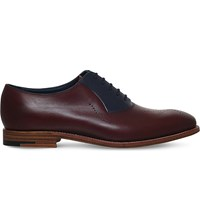 Barker Harry Wholecut Leather Oxford Shoes Wine Comb